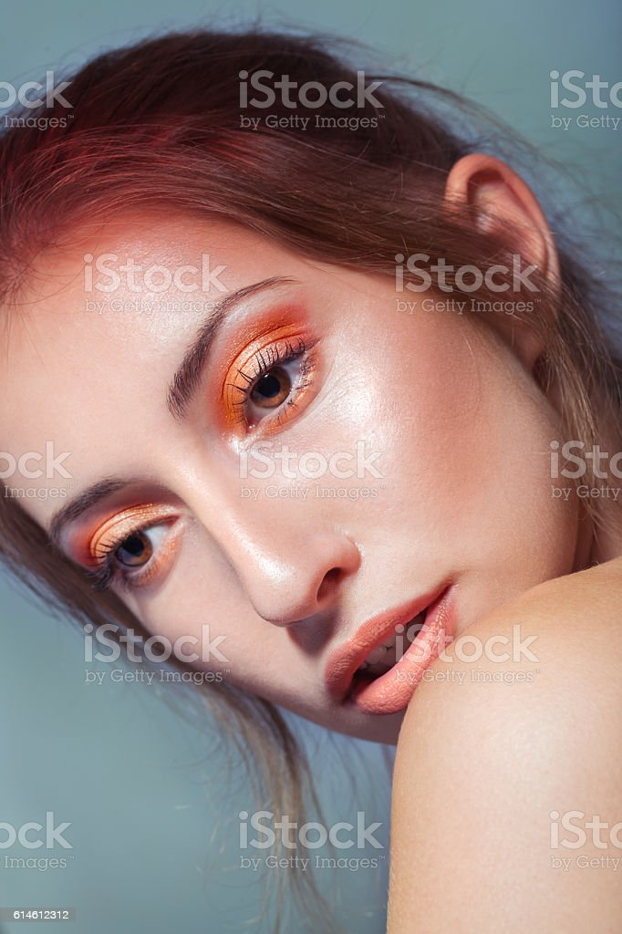 Orange Girl stock photo