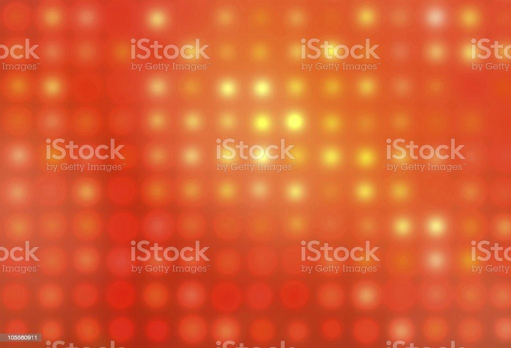 Orange glowing dots royalty-free stock photo