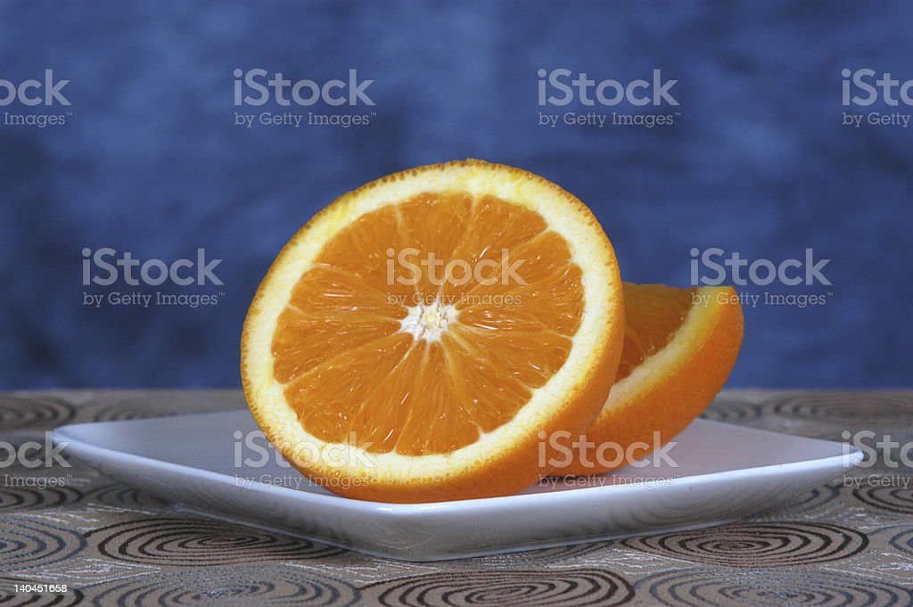Orange Half royalty-free stock photo