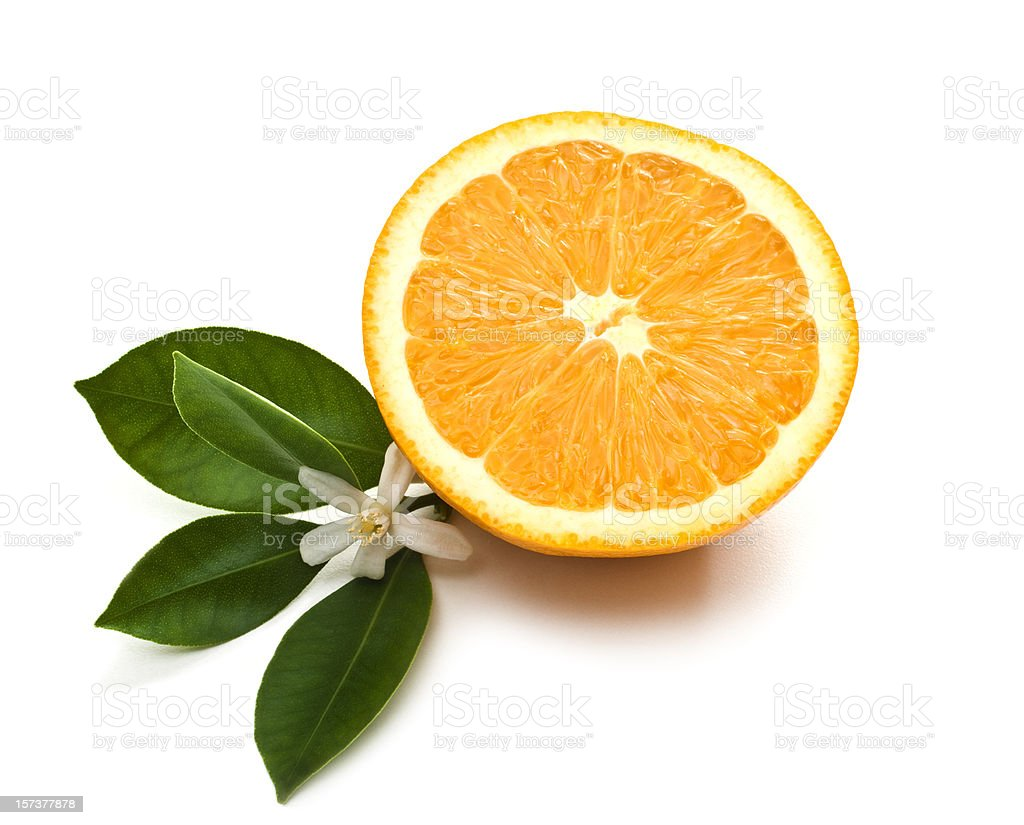 Orange half stock photo