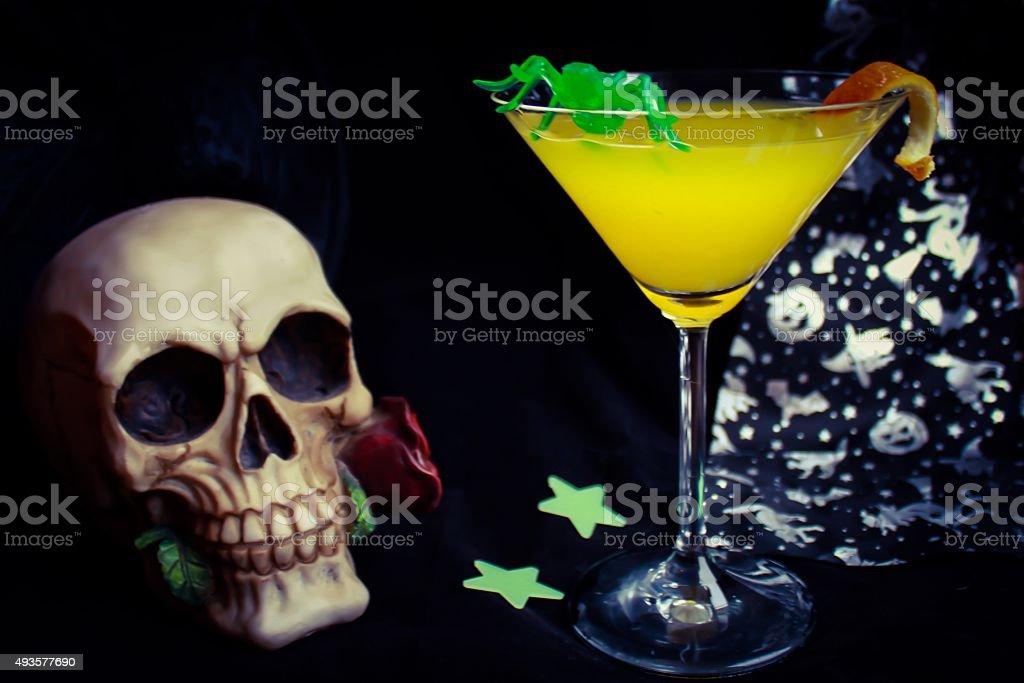 Orange Halloween Drink stock photo