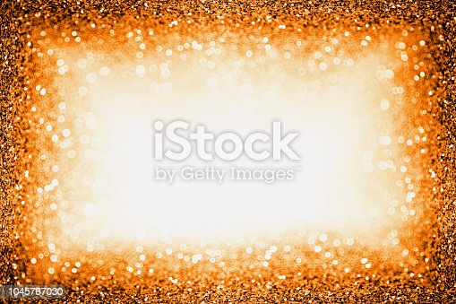 istock Orange Halloween or Thanksgiving Border Autumn Background Frame 1045767030