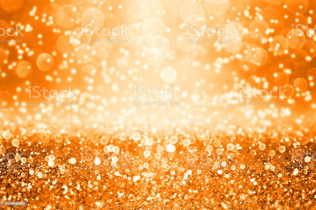 Orange Halloween Or Thanksgiving Fall Background Glitter