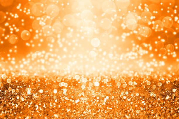 orange halloween oder thanksgiving herbst hintergrund glitter - halloween party einladungen stock-fotos und bilder