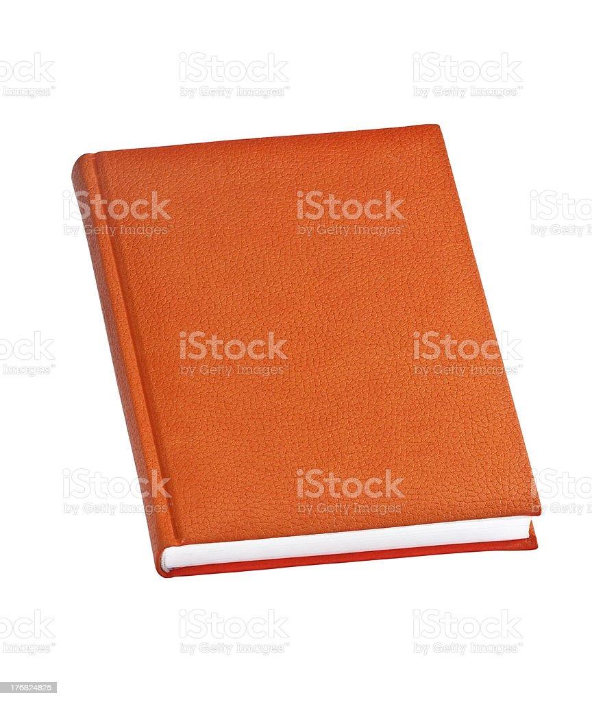 orange hard cover book royalty-free stock photo