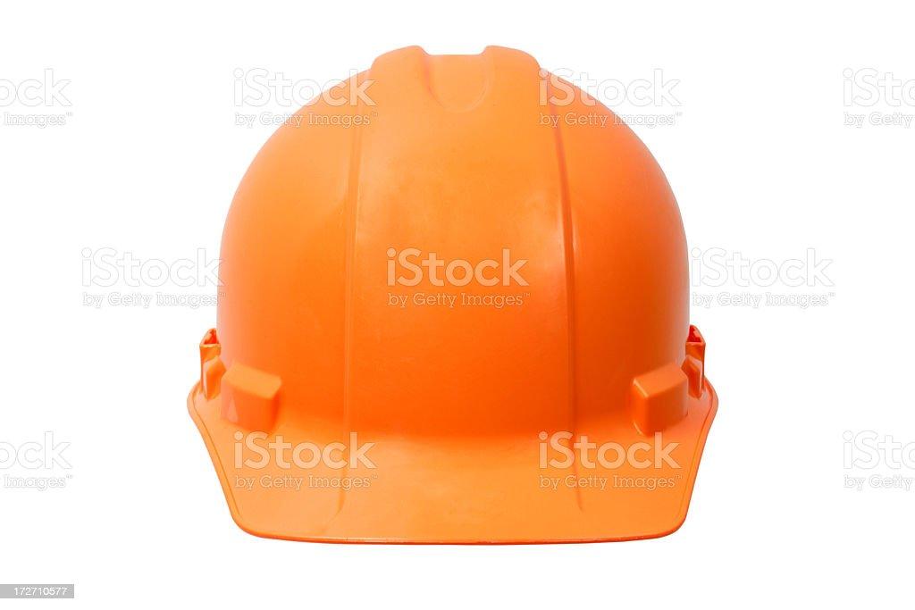 Orange hardhat stock photo