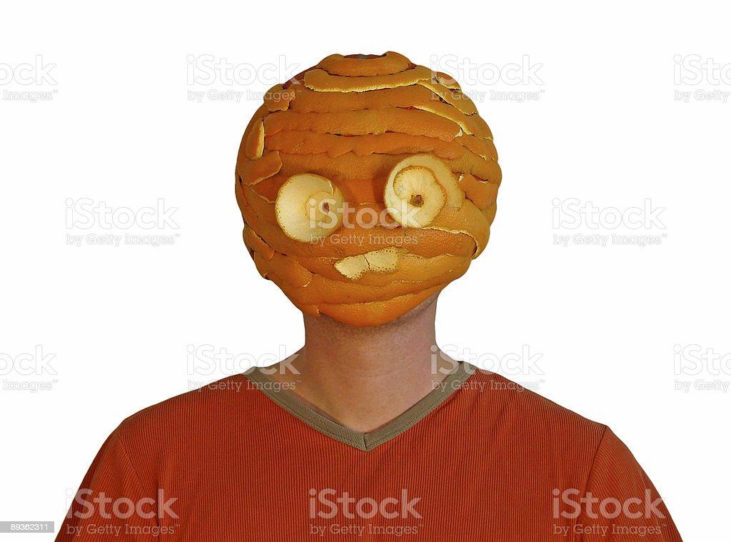 orange head royalty-free stock photo