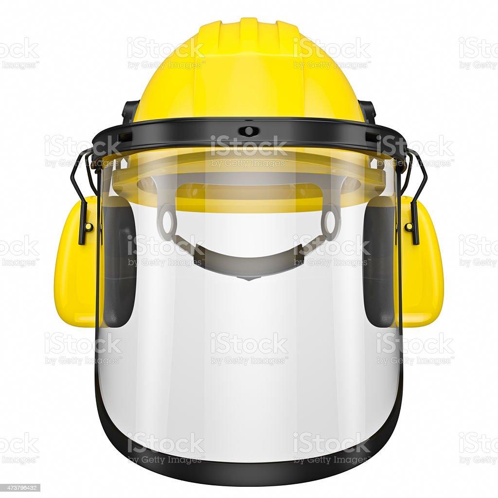 Orange helmet stock photo