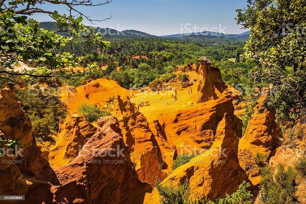 Orange  hills stock photo
