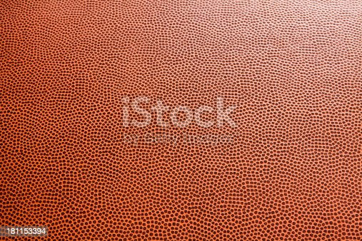 Closeup of American football leather for background