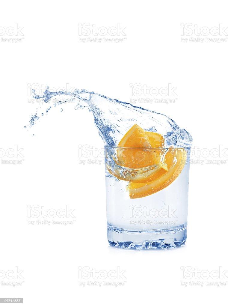 Orange in glass royalty-free stock photo