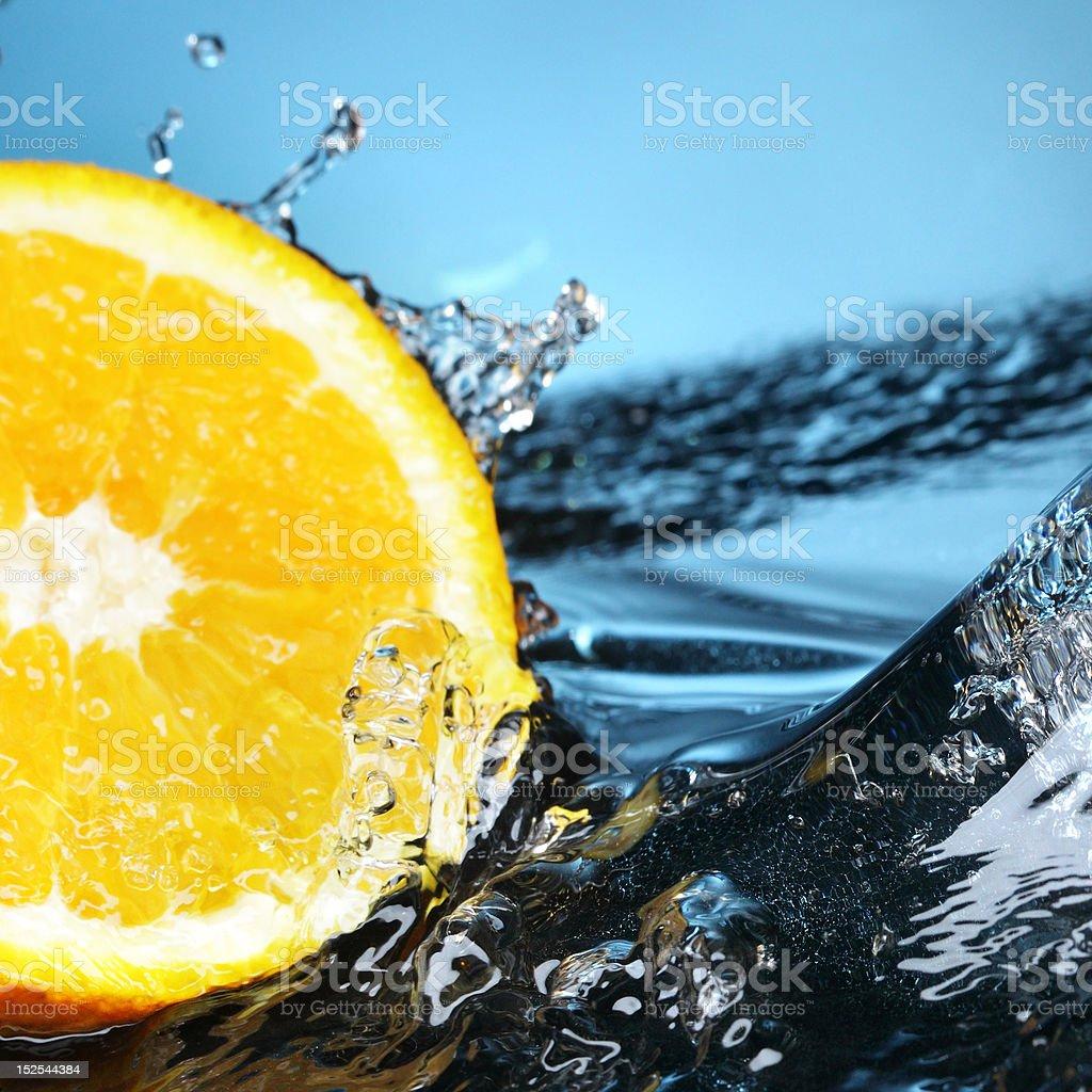 orange in water royalty-free stock photo