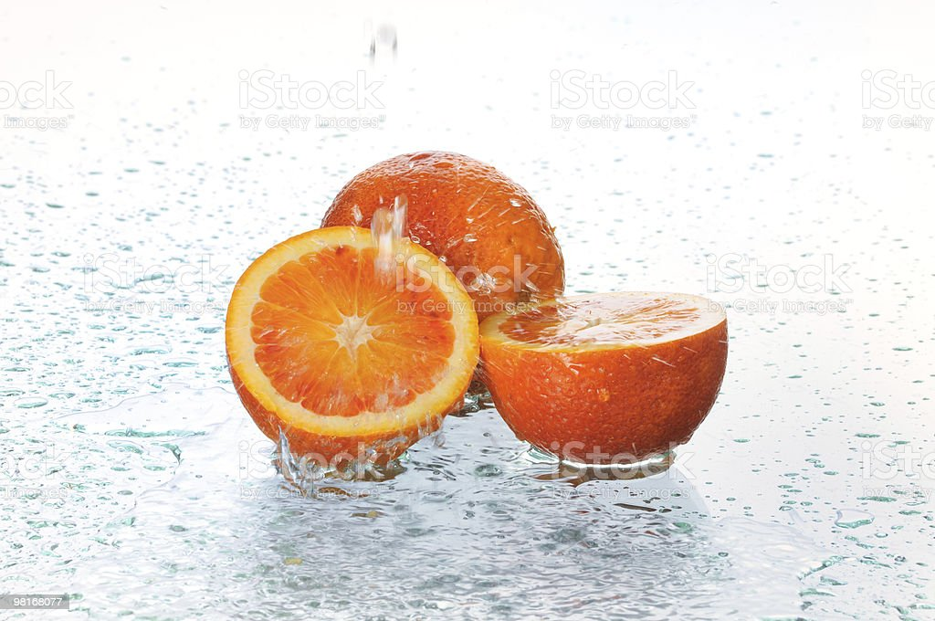 orange in water royalty-free stock photo