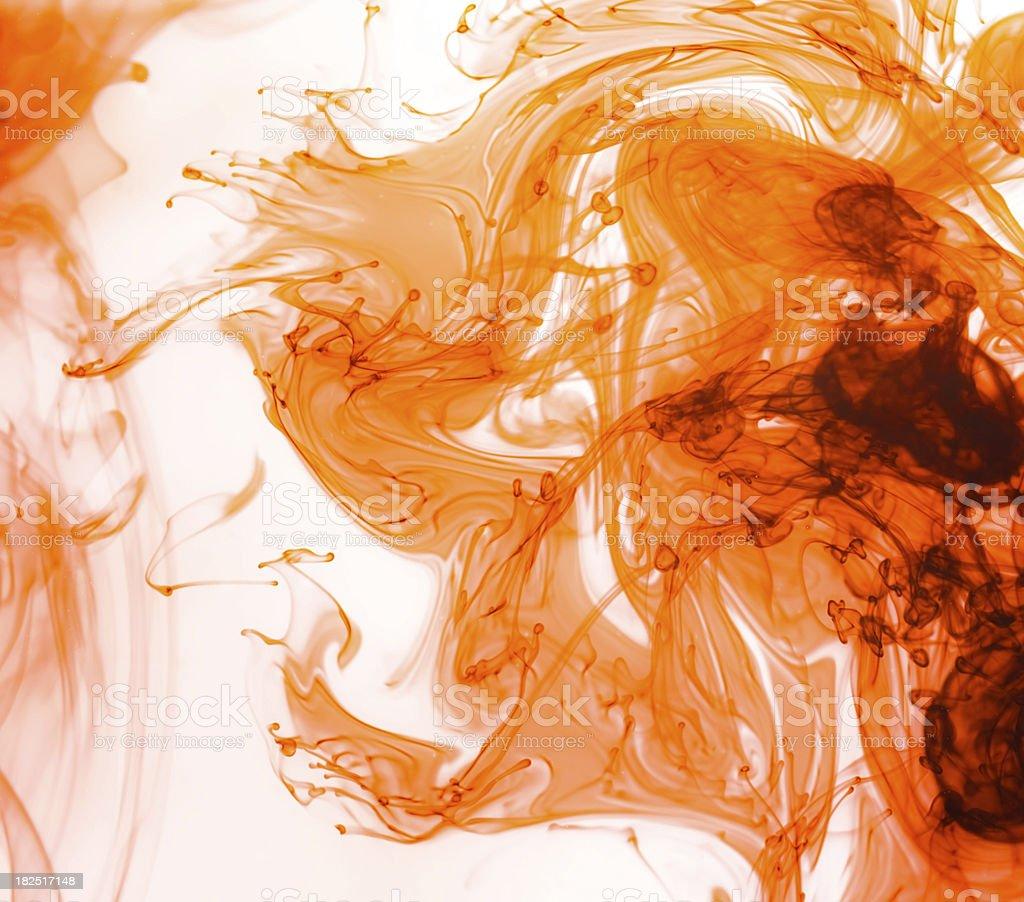 Orange ink royalty-free stock photo