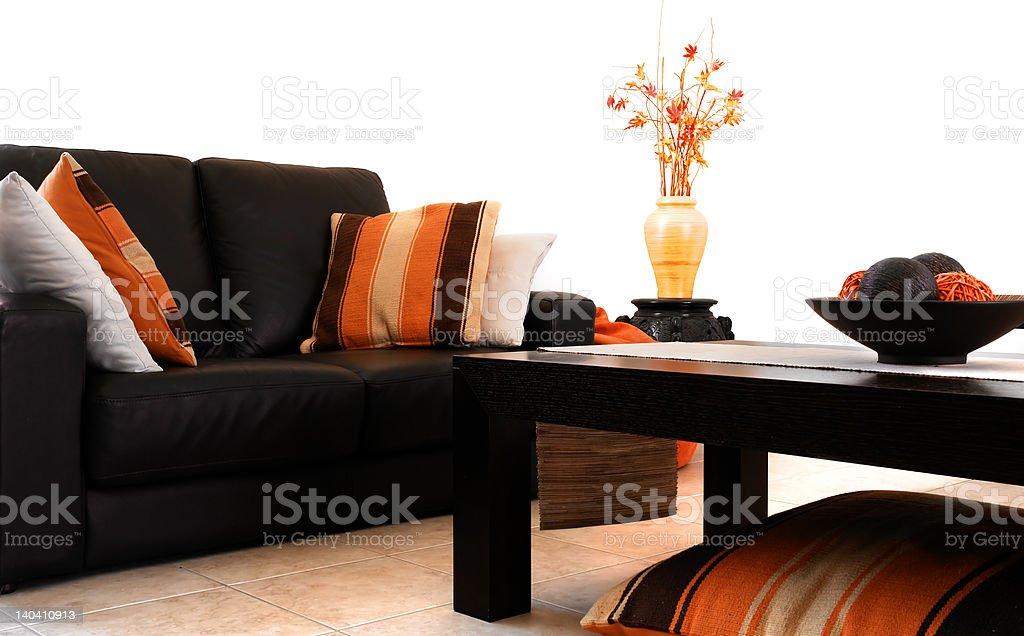 Orange Interior royalty-free stock photo