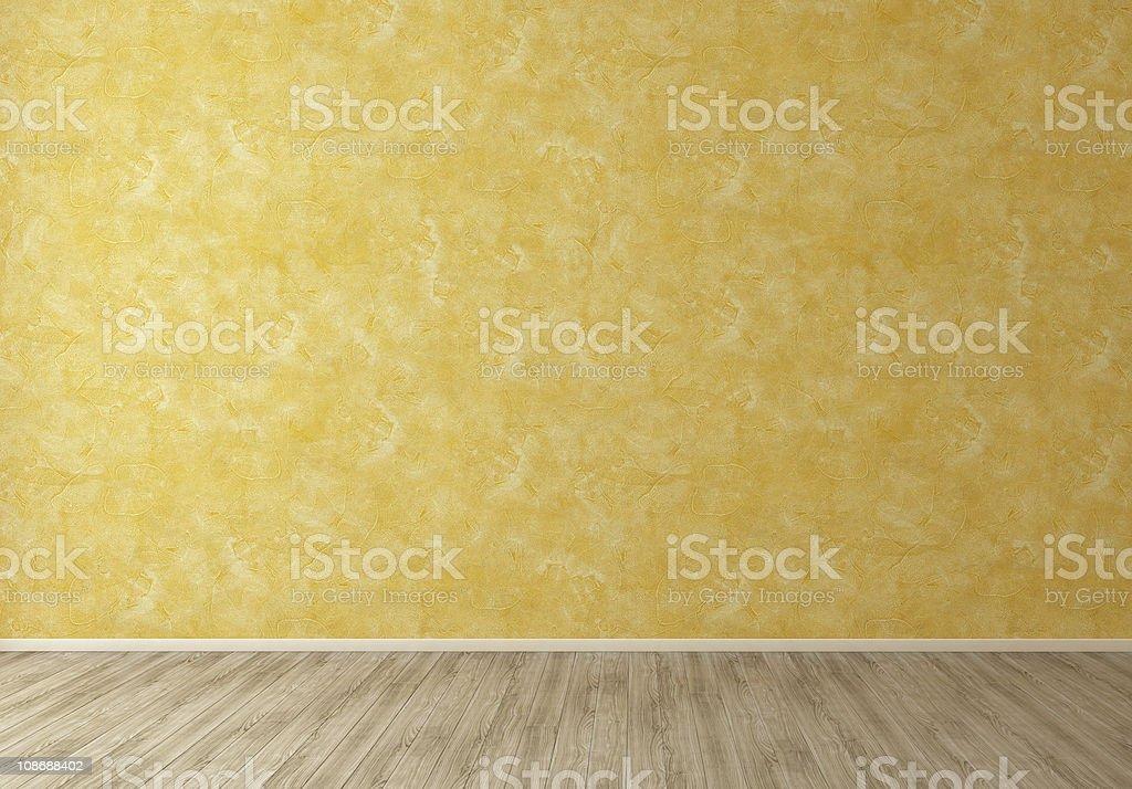 Der Wand in Orange innen in leeren Raum Hintergrund – Foto