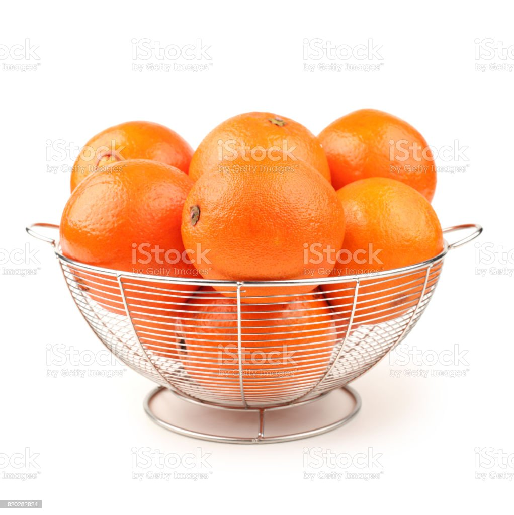 Orange isolated on a   white background stock photo