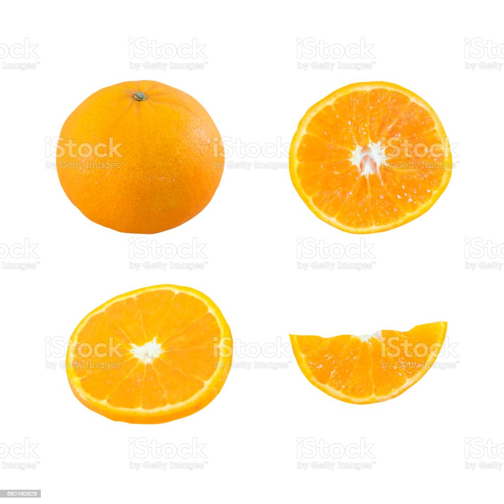 Orange isolated on white background., This has clipping path. royalty-free stock photo