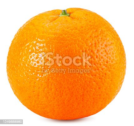 Orange isolated on white background. Package design element