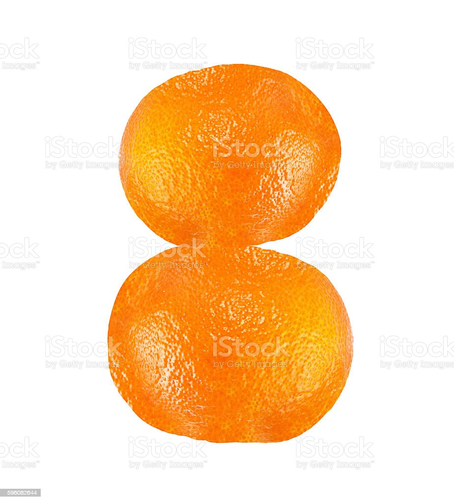 orange isolated royalty-free stock photo