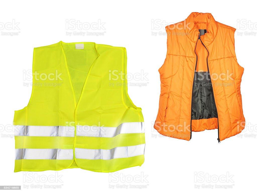 orange jacket stock photo