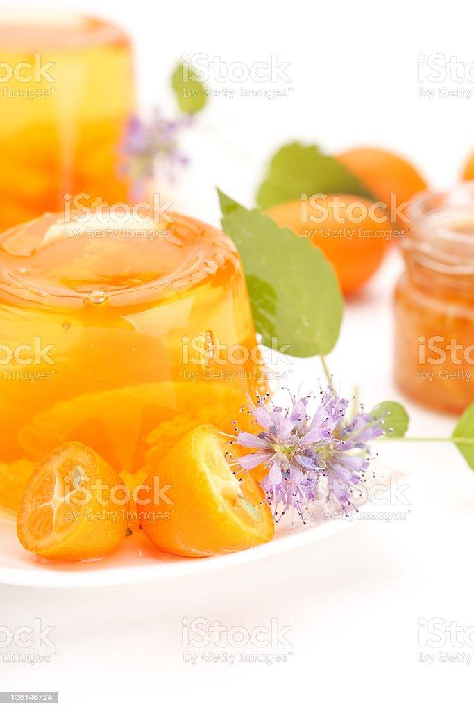 orange jelly royalty-free stock photo