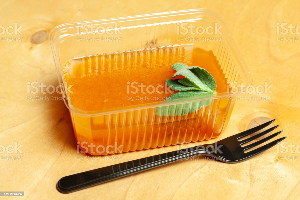 Orange jelly with mint - Royalty-free Breakfast Stock Photo