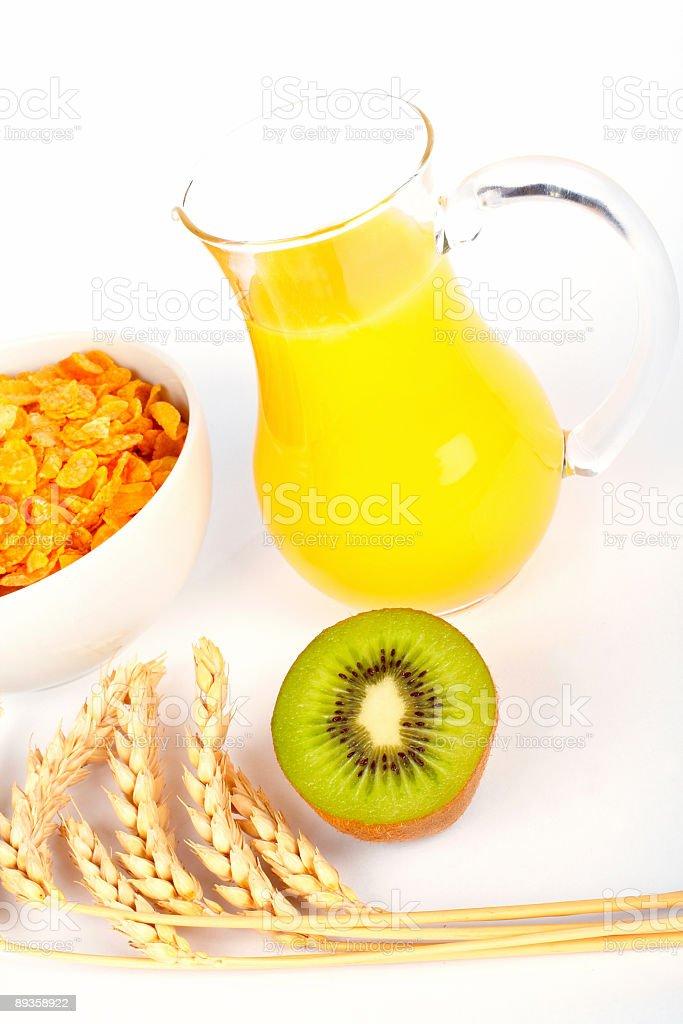 Succo d'arancia e cereali foto stock royalty-free
