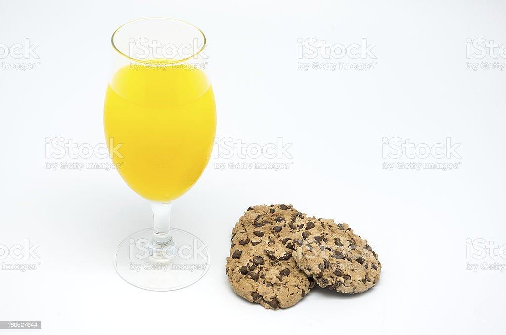 Orange Juice and Cookies 3 royalty-free stock photo