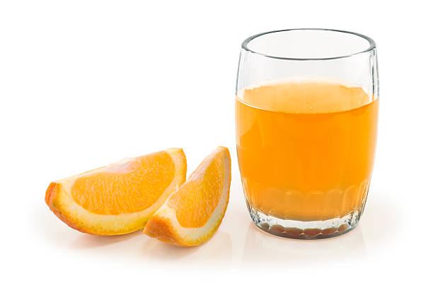Orange Juice and Slices stok fotoğrafı