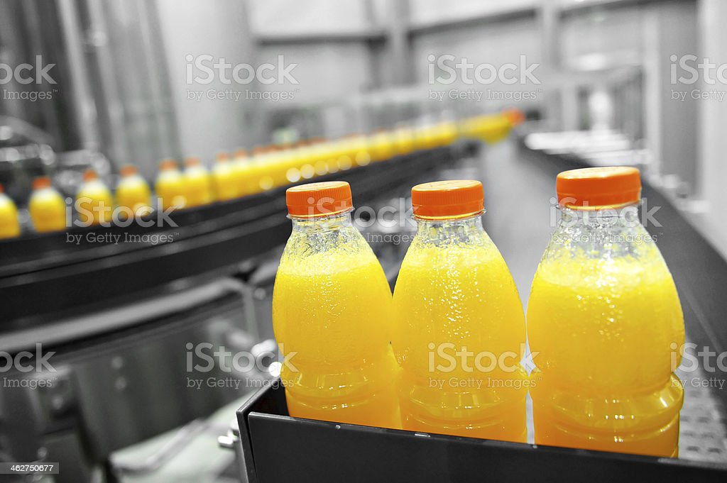 Orange Juice Factory stock photo