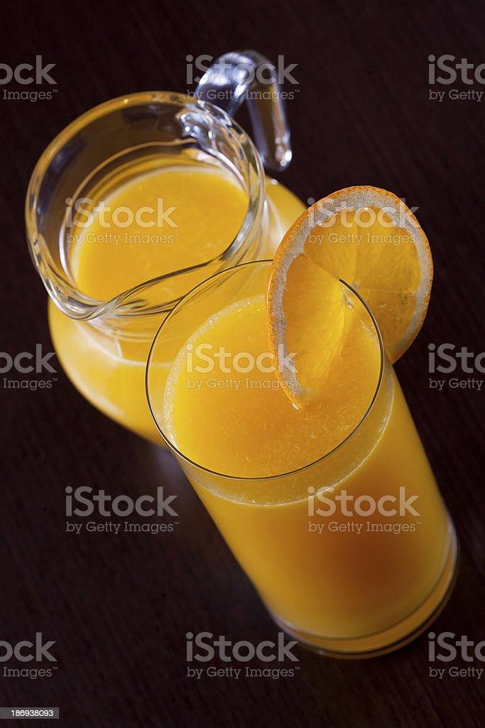 Orange juice on black royalty-free stock photo