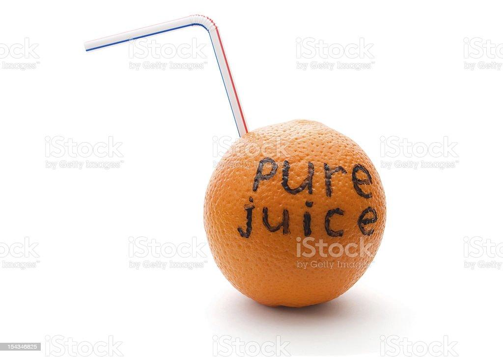 orange juice orange with straw isolated on white Citrus Fruit Stock Photo