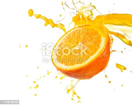 Orange juice splash - Please see my portfolio for other food related images.