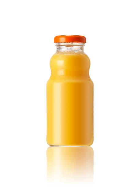 succo d'arancia - fruit juice bottle isolated foto e immagini stock