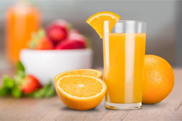 Orange juice. stock photo