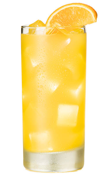 Orange Juice Screwdriver Cocktail Isolated on White Background Orange Juice Screwdriver Cocktail Isolated on White Background  screwdriver drink stock pictures, royalty-free photos & images