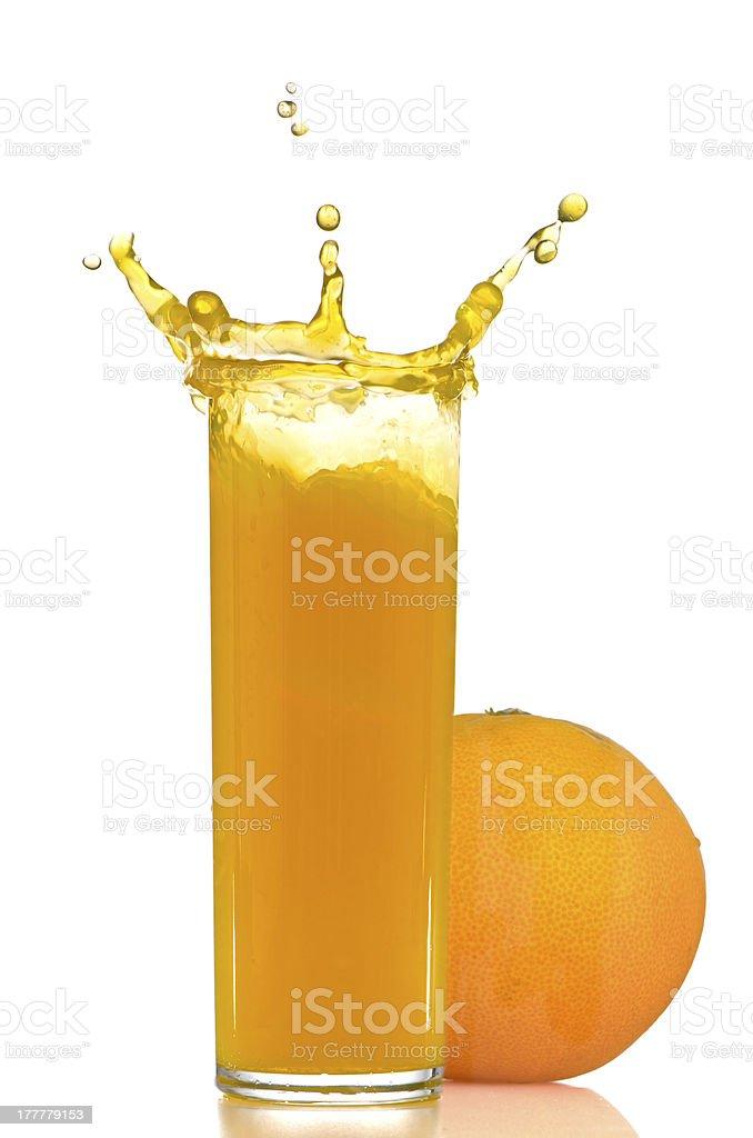 Orange juice splash royalty-free stock photo