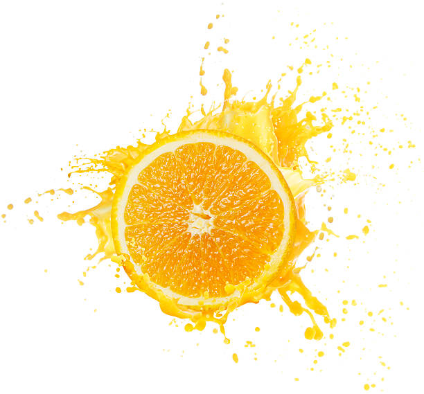 Orangensaft Spritzendes Wasser – Foto