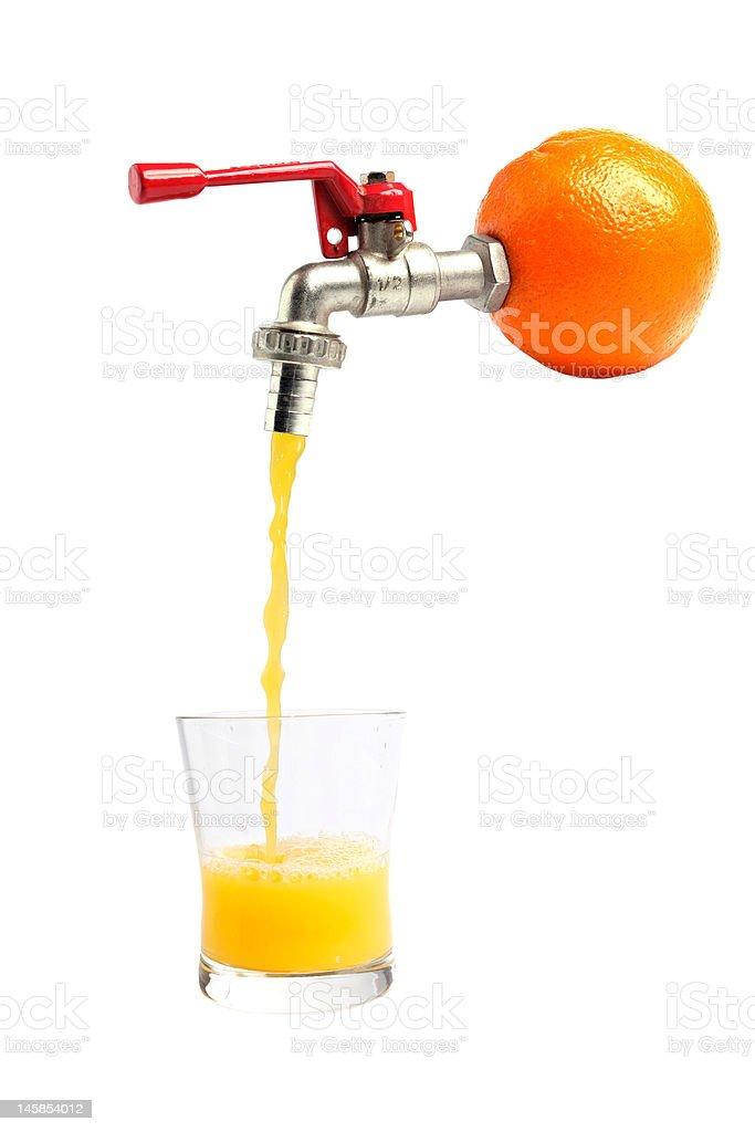 Orange juice - straight from the source royalty-free stock photo
