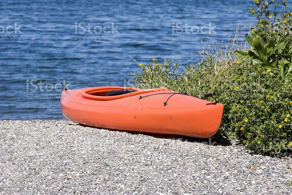 Orange Kayak royalty-free stock photo