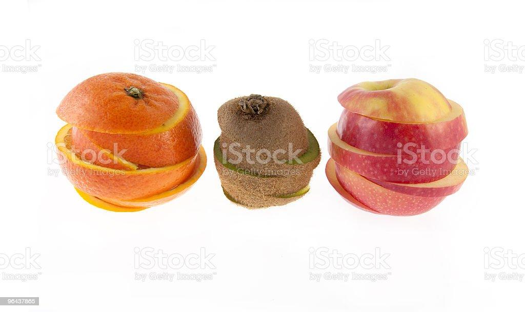 Laranja, kiwi e maçã - Foto de stock de Alimentação Saudável royalty-free