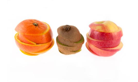 Foto de Laranja Kiwi E Maçã e mais fotos de stock de Alimentação Saudável