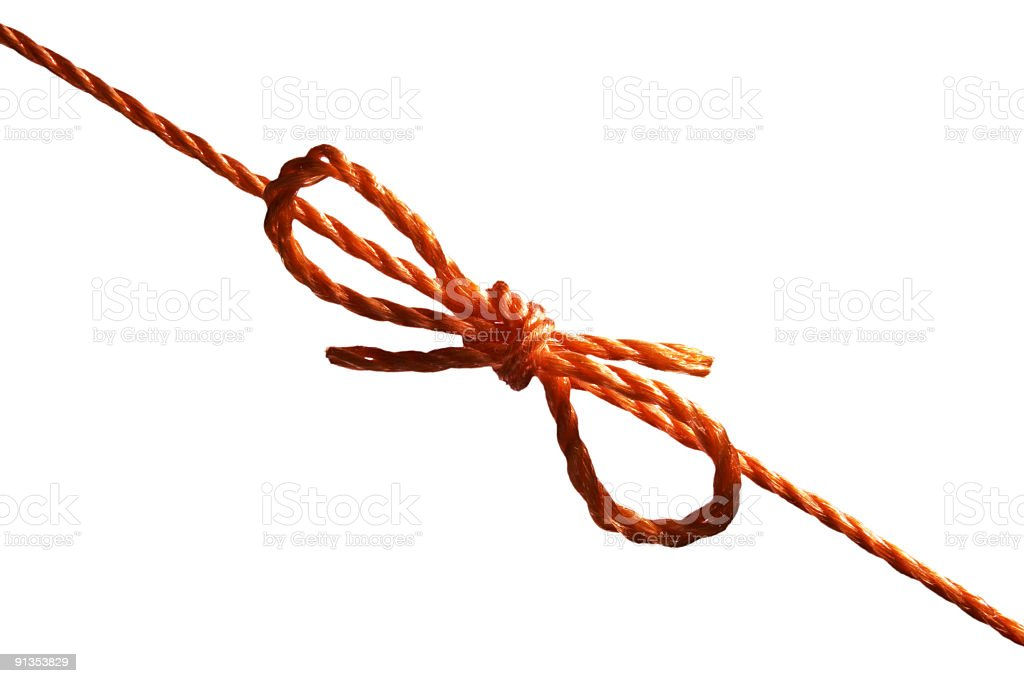 orange knot royalty-free stock photo