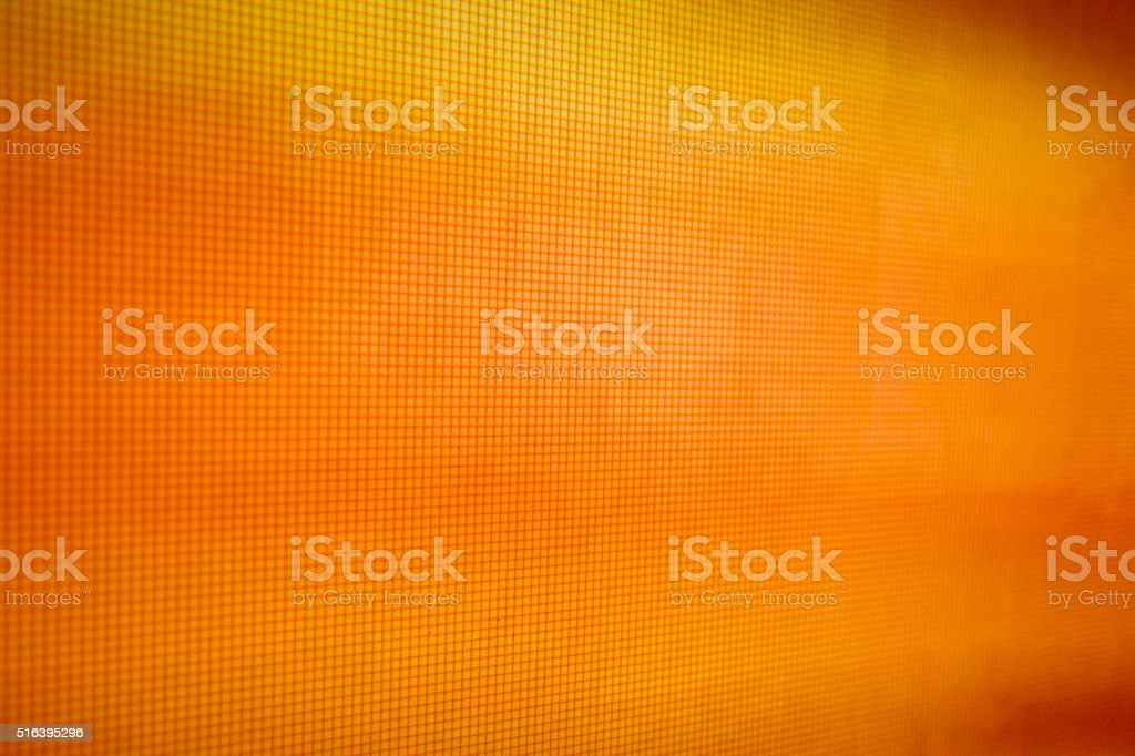 orange LCD movie projector broadcast digital noise electronic signal failure stock photo