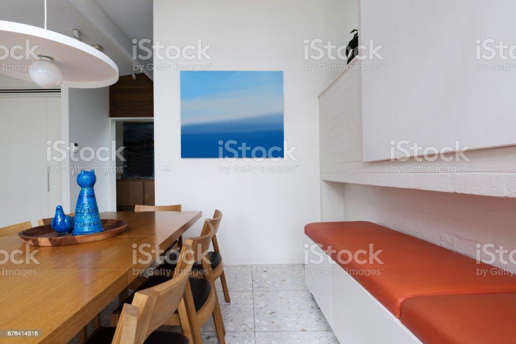 Fine Orange Leather Bench Seat Along Scandinavian Styled Dining Machost Co Dining Chair Design Ideas Machostcouk