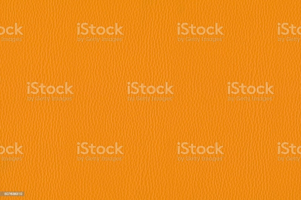 Orange leather texture as background stock photo