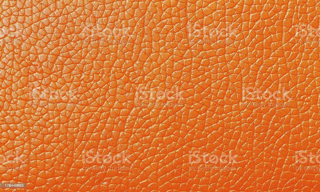 Orange Leather texture, backdrop stock photo