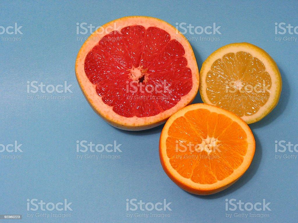 Orange, lemon and grapefruit royalty-free stock photo