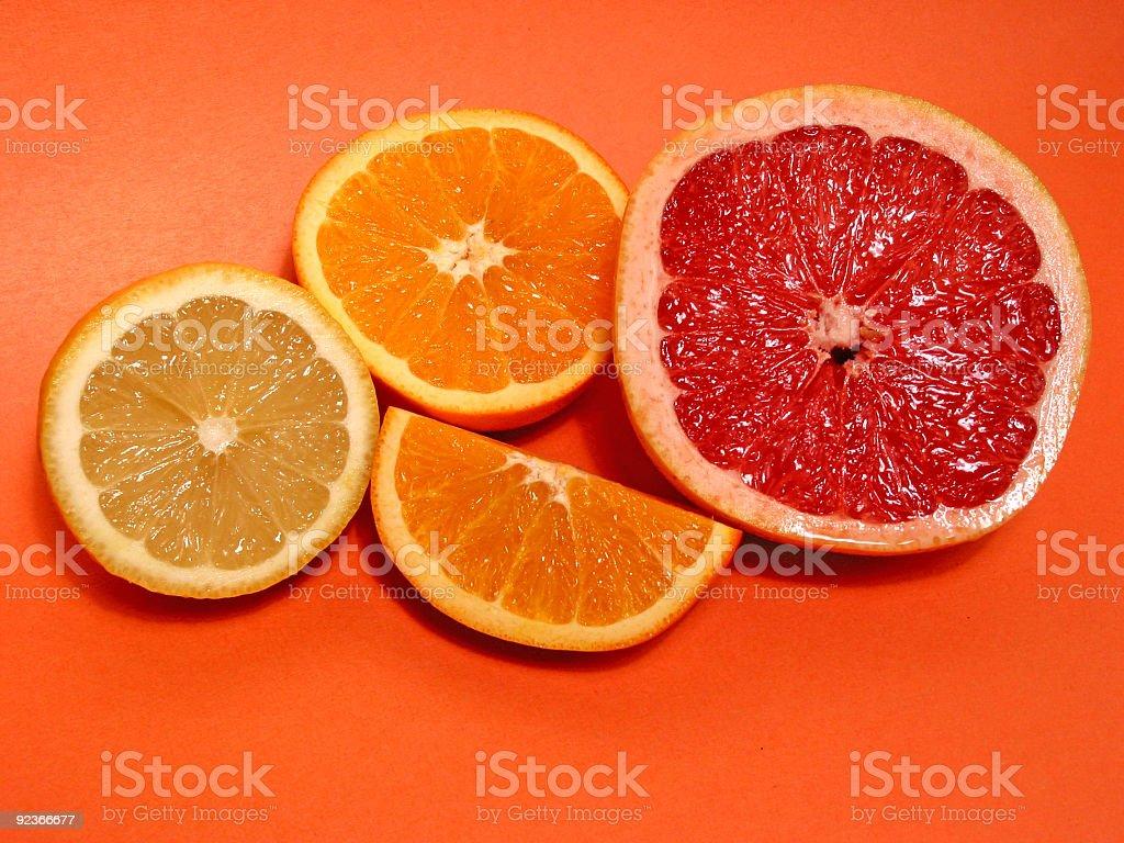 Orangen-, Zitronen- und grapefruit Lizenzfreies stock-foto